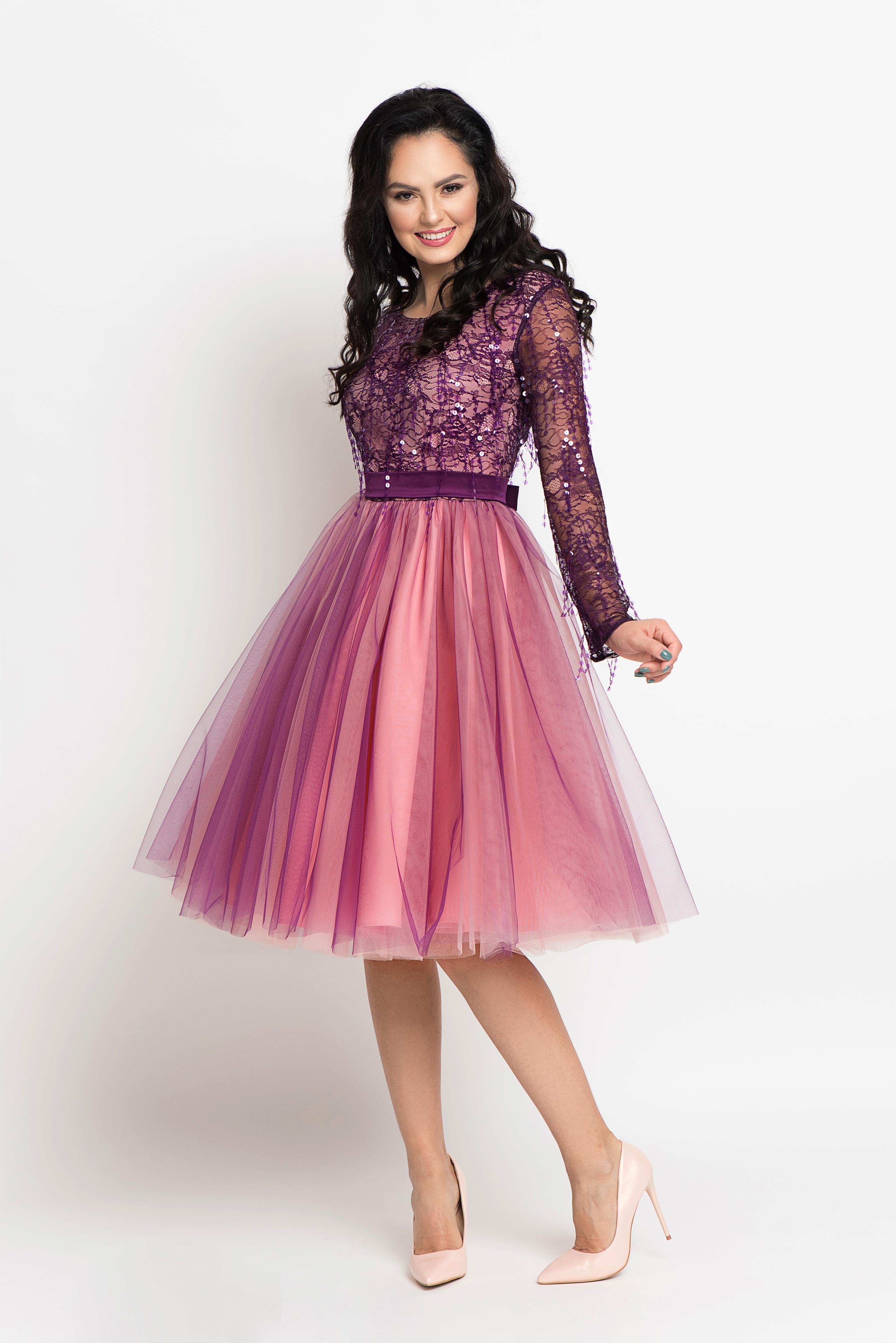 Violet Sequin Dress