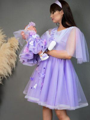Lavender Mother Daughter Matching Dresses